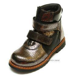 Кожаные стильные ботинки  Panda 1070101P графит