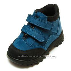 Кожаные деми ботинки Panda на байке 1079195 синие