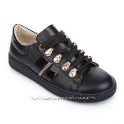 Кожаные черные кроссовки Lapsi 1704