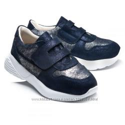Блестящие кожаные кроссовки Theo leo 108955