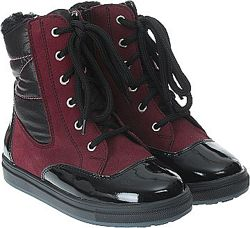 Зимние ботинки кожа, замша, мембрана Мальвы 109Ш