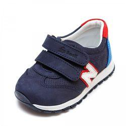 Кожаные кроссовки Small 1079930 синие р 19-30