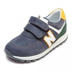 Кожаные кроссовки Small 1079930 cерые