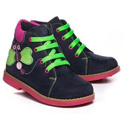 Кожаные деми ботинки утепленные Бабочка Турция 1081022