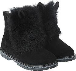 Зимние ботиночки с ушками и натуральным мехом Зайченок 109Ш-403
