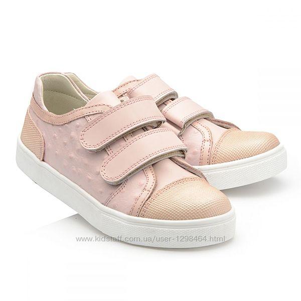 Кожаные кроссовки с пупырышками leo 108927