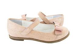 Кожаные блестящие туфли Мальвы 109Ш-321 блестящий беж