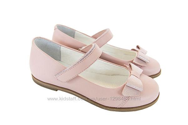 Кожаные летние туфли Мальвы 109Ш-321 розовые