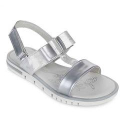 Модные серебристые босоножки Lapsi 1600 Акция р 31-34