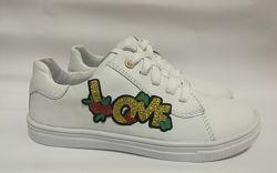 Кожаные кроссовки Love Мальвы