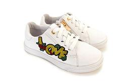 Кожаные белые кроссовки С любовью  Мальвы 109Ш-460А