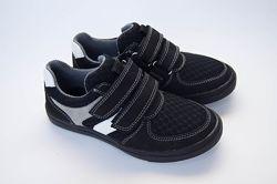Кожаные кроссовки кеды для мальчика Мальвы 109Ш-463 черыне