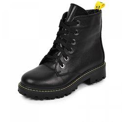Кожаные ботинки для девочки Maxus 1102230 черная кожа