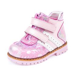 Милые кожаные ботинки Panda 1071011 розовые