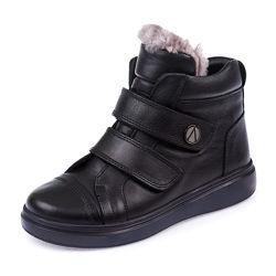 Кожаные зимние ботинки Panda 107136 р.31-36