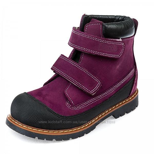 Яркие кожаные зимние ботинки Panda 108200P