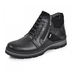 Кожаные ботинки Блек черная кожа