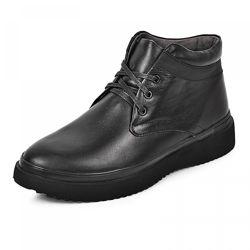 Кожаные ботинки Фози черная кожа