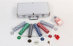 Покер в алюминиевом кейсе 300 шт с номиналом