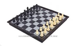 Шашки, шахматы и нарды  магнитные 25 см