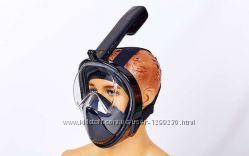 Детская полнолицевая маска для плавания детская sm Fullface free breath
