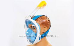 Полнолицевая маска для плавания Fullface free  breath детская синяя