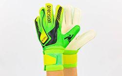 Вратарские перчатки Precision 5, 6, 7-ка с защитными вставками на пальцах