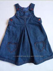 джинсовый сарафан девочке 1. 5-2 года Mothercare