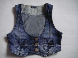 джинсовый жилет девочке 11-12 лет, 146 см Next