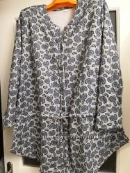 Блуза на кулиске на 62-72 размеры.
