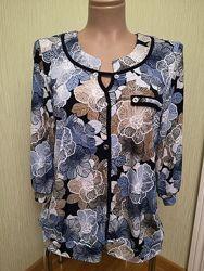 Блузка на планке Валери от 48 по 58 размеры