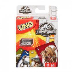 Карточная игра Уно Парк Юрского периода UNO Jurassic World FLK66