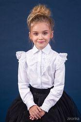 Блузки трикотажні 122-140 Школьная форма