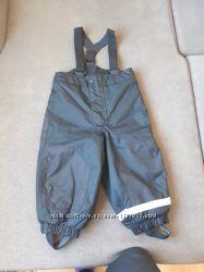 Не промокаемые, утеплённые  штаны на подтяжках НМ на мальчика 1, 5-2 года,