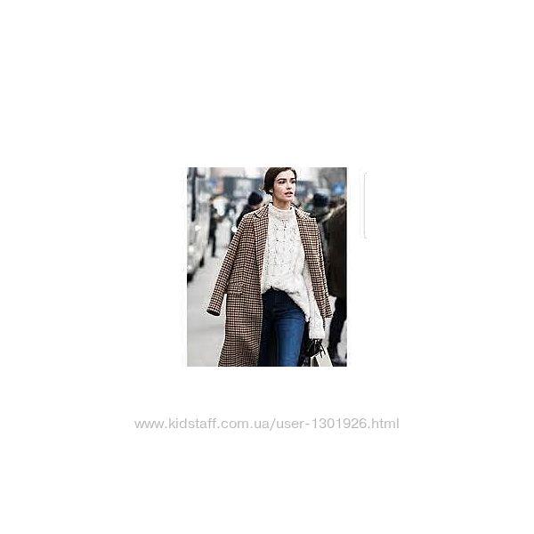 Полушерстяное пальто ЗАРА оверсайз, размер Л-ХЛ, новое