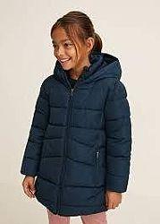 Удлиненная куртка-парка МАНГО для девочки 3-4 года, рост 104 см