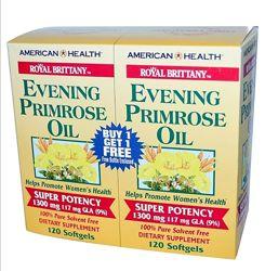 American Health Royal Brittany масло примулы вечерней 1300мг, 2 уп. 240шт