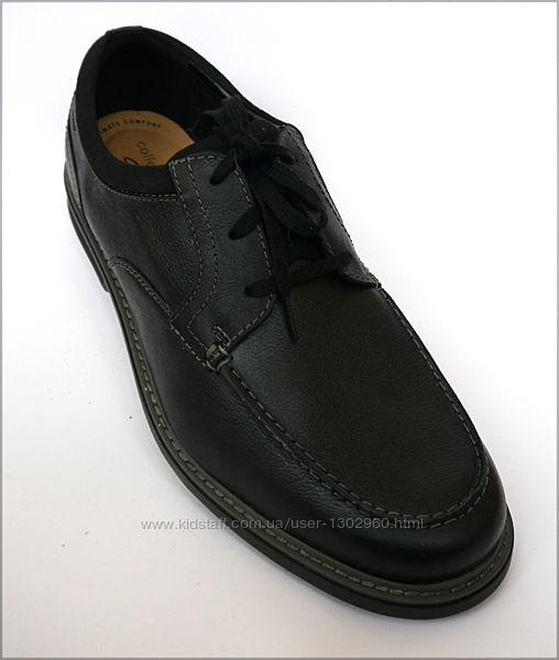 30.0 Clarks Rendell черные туфли оригинал Кларкс кожа