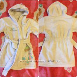 Мягенький халат халатик детский Mothercare 12 месяцев и больше 80-86 размер