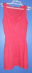 Яркое летнее платье TOPSHOP р.6-8 красная фуксия