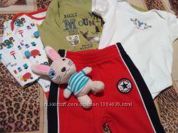 Пакет дитячого одягу на 3-6 місяців 4 речі та іграшка
