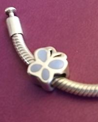 Стильный серебряный подвес бусина шарм бабочка для браслета
