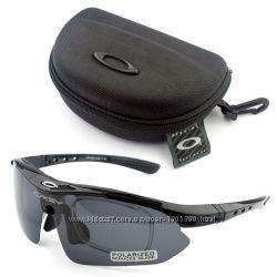 Акцiя Тактичні захисні окуляри Oakley Polarized 5 лінз