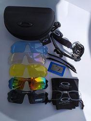 Окуляри 5 в 1 наборі Oakley Polarized для рибалки та спорту.