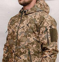 Тактическая куртка Пиксель&nbspВСУ&nbspММ-14 ЗСУ Софтшелл Soft Shell Typhon Тайф