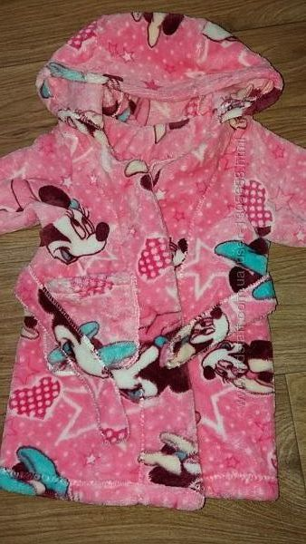 Новый халат из велсофта теплый мягкий для девочки до года