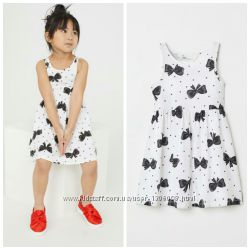 Платье, сарафан, размер 2-4, 6-8,  8-10 лет,  хлопок,  H&M.