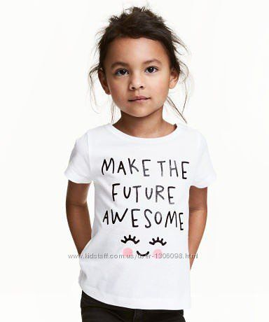 Футболка, размер 2-4 года, футболочка,  детская футболка, для девочек,  hm.