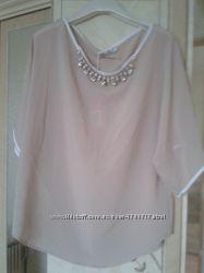 Блуза со стразами р. 48-54 liza kott италия