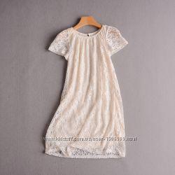 Женское платье-туника кружевное